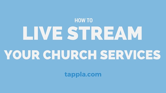 how to live stream your church services through Apple TV